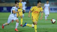 Suasana pertandingan HAGL versus Nam Dinh FC di Stadion Thien Truong, Sabtu (23/5/2020).