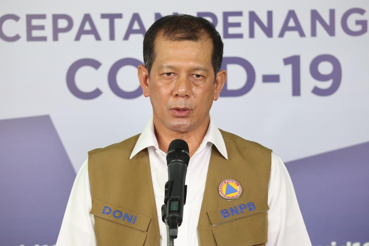 Tim Gugus Tugas Percepatan Penanganan Covid-19 pada di akun Twiteer @BNPB_Indonesia.(wacananews.co.id/w1)