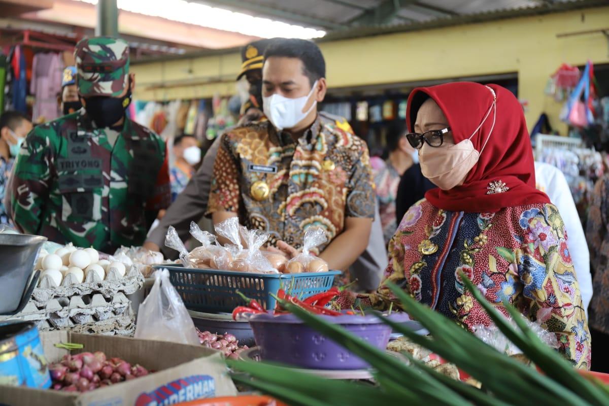 bupati jombang sidak pasar